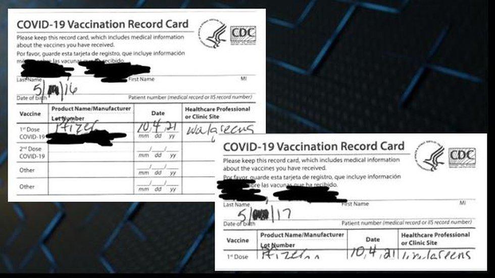 Children's vaccine cards