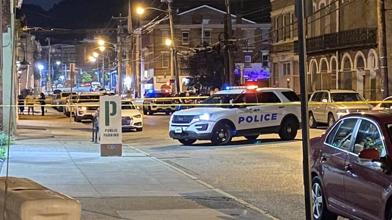 Cincinnati police responded to a shooting scene on Walnut Street in OTR around 10 p.m. Monday.
