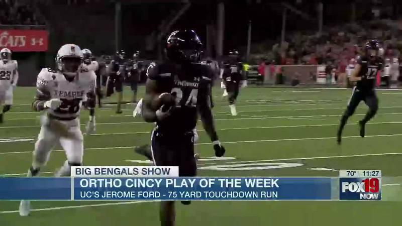 UC's Jerome Ford 75 yard touchdown run