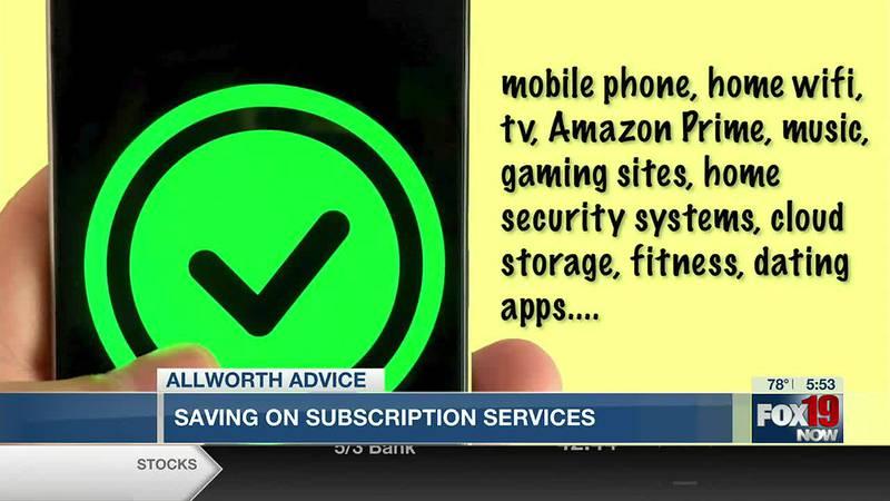 Allworth Advice: Saving on subscription services