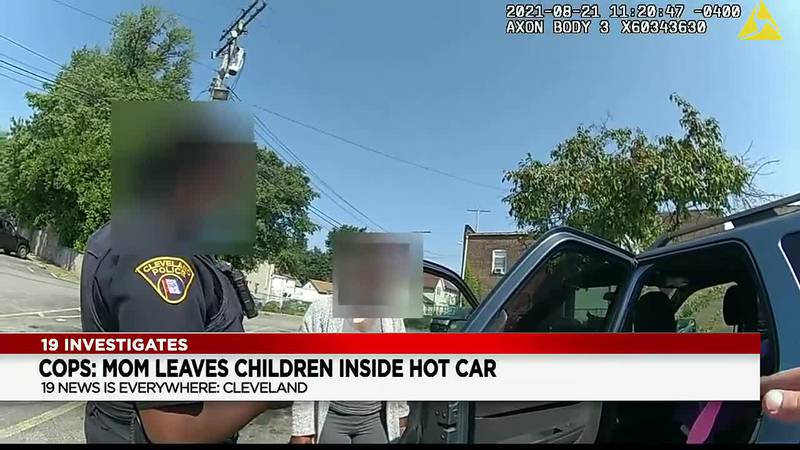Young children rescued from hot car while mother donated plasma, Cleveland police say (video)