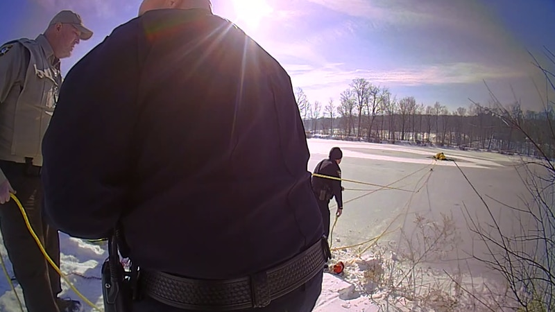 Medina County ice rescue