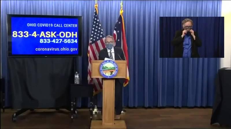 Gov. DeWine gives update on state's coronavirus response
