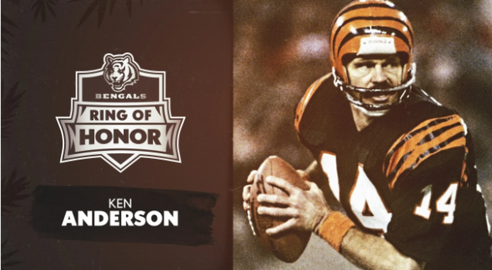 Ken Anderson, one of the inductees into the Bengals Ring of Honor Inaugural Class. Played from...