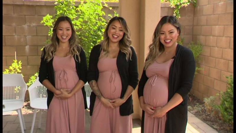 The Tran triplets in Orange County, California, are all pregnant at the same time, and they...