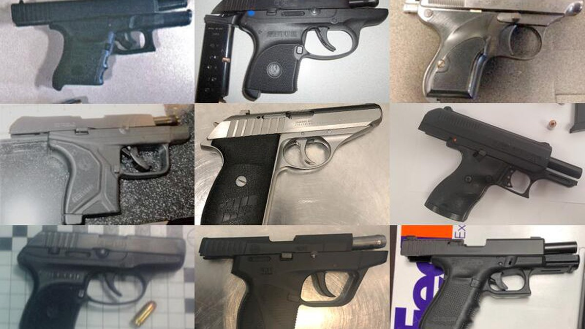 In the month of July, TSA airport screeners detected three times as many guns, as compared to...