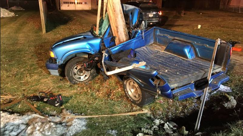 Miami Township police are investigating after a pickup truck crashed into a utility pole and...