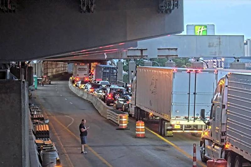 A crash on the Brent Spence Bridge has closed all northbound lanes.