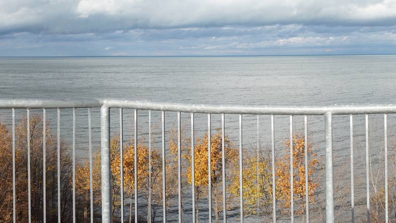 The Lake Erie Bluffs Observation Tower in Perry is part of Lake Metroparks.