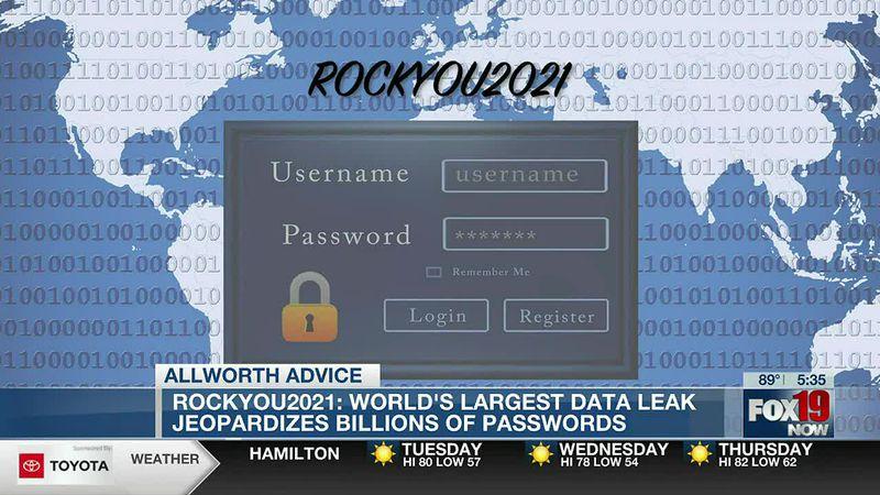 Allworth Advice: ROCKYOU2021: World's largest data leak jeopardizes billions of passwords