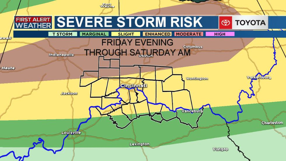 Severe weather is possible Friday evening through Saturday morning.