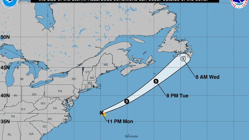 Tropical Storm Bill was expected to continue far off the Atlantic seaboard and not pose any...