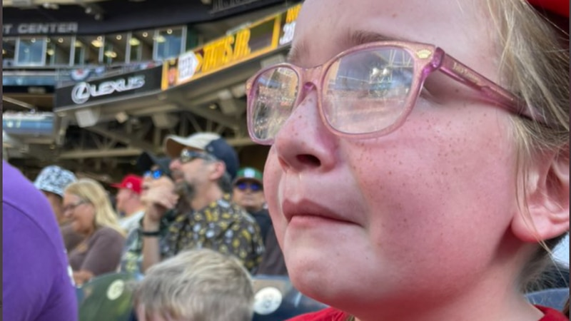 A young Reds fan was devastated after not getting to see her favorite player, Joey Votto, play...