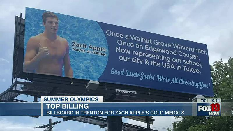 Billboard honors Zach Apple's golden performance at Olympics