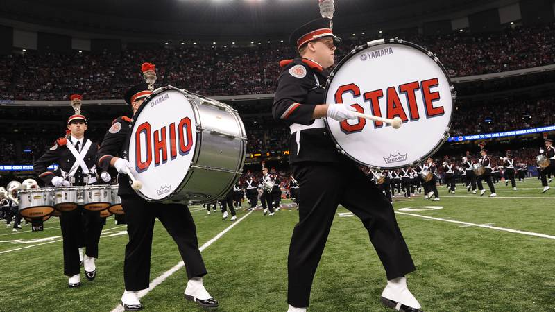 FILE - The Ohio State University Band performs (Cheryl Gerber/AP Images for Allstate)