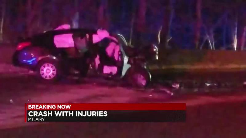 Mt. Airy crash with injuries.