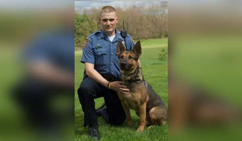 Green Township K-9 Officer Anthony Leibendor and Dino (Green Township Police Department)