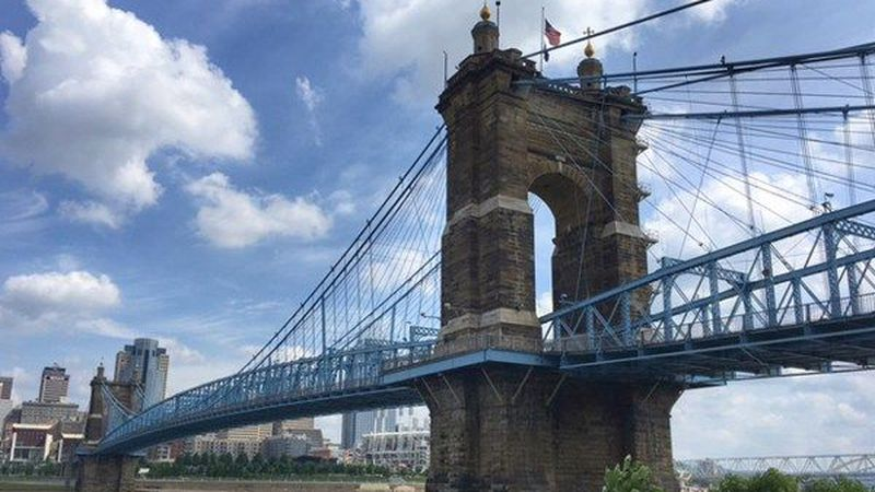 The John A. Roebling Suspension Bridge will be closed Thursday and Friday, then again Tuesday...