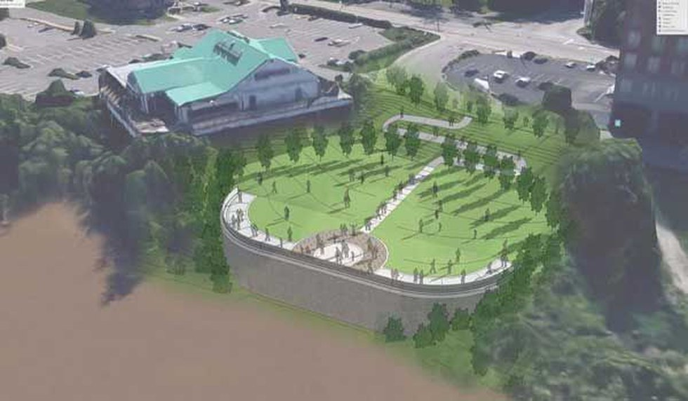 A multi-million green space project is under construction along the Ohio River in Newport....