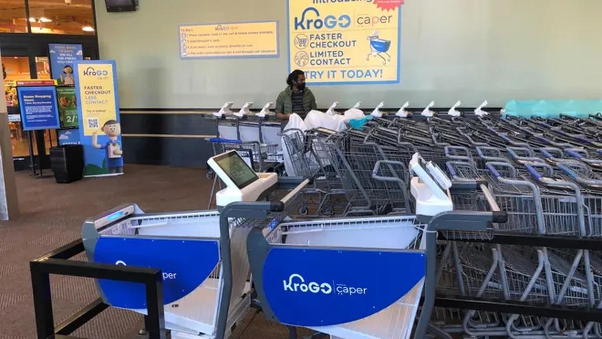 Kroger is testing a new 'smart kart' in Cincinnati