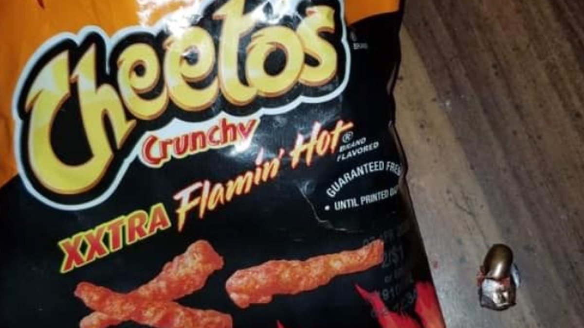 A resident took to social media to show the bullet he found inside his bag of Flaming Hot...