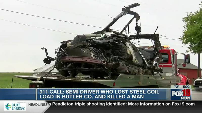 911 calls from deadly Butler Couty steel coil crash released