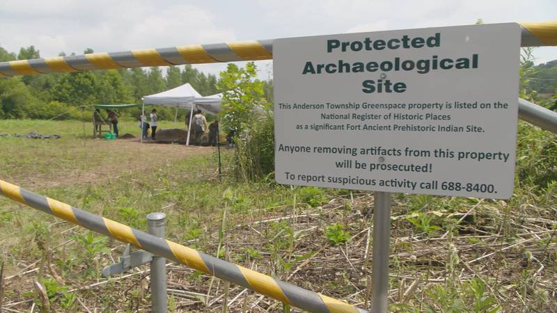 A piece of green space in Anderson Township is unearthing ancient history.