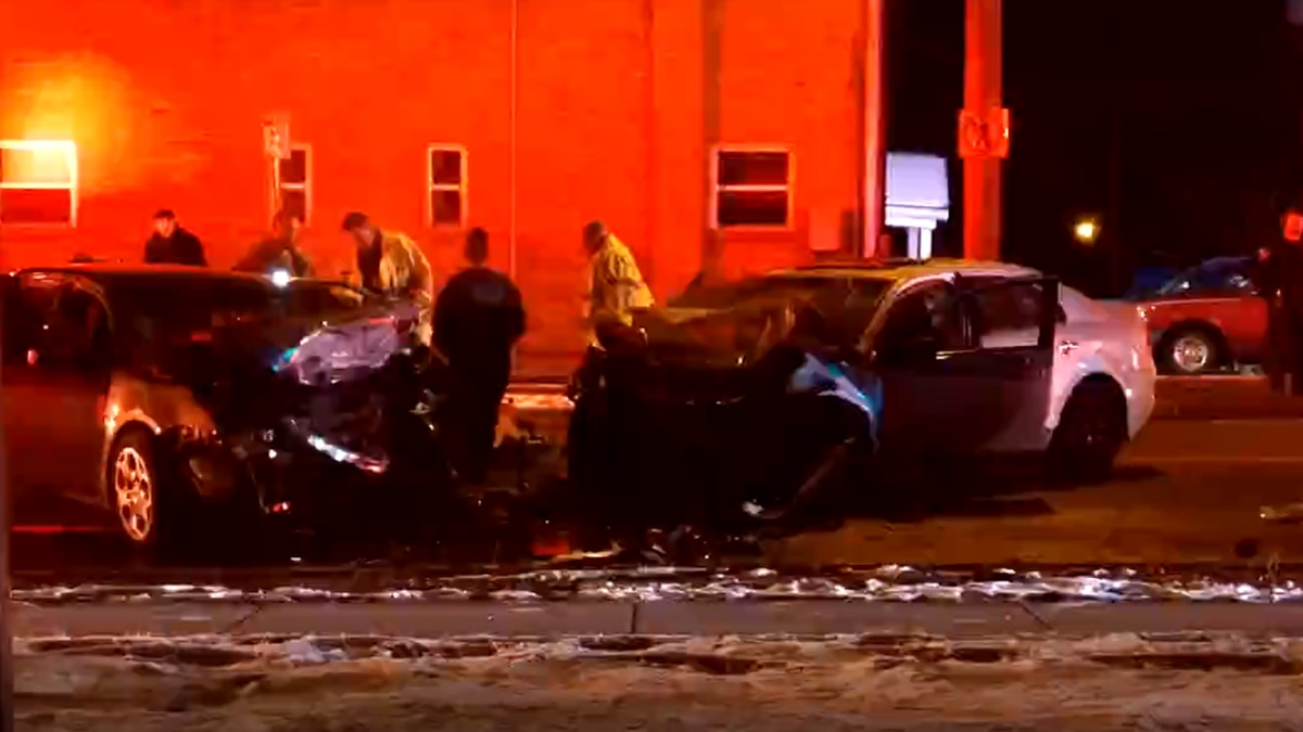 Police are investigating a crash with three victims in Westwood.