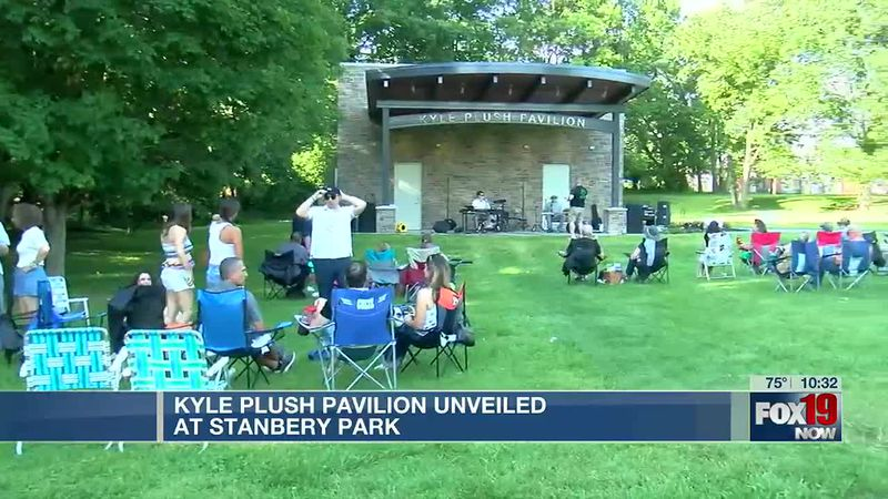 Pavilion unveiled in honor of Kyle Plush