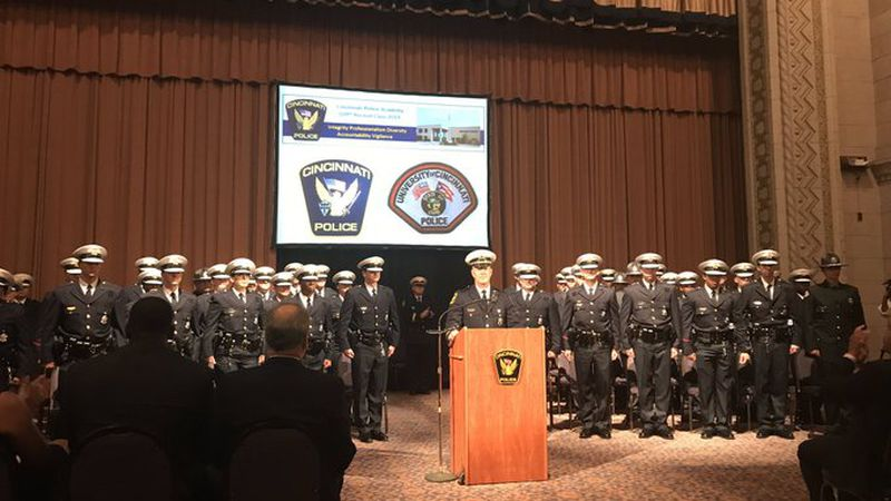 109th Cincinnati Police Department recruit class was sworn in Friday. 42 of the officers will...
