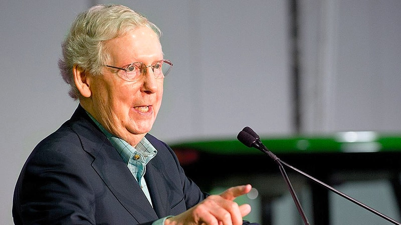 In a Senate speech on Aug. 12, Sen. Mitch McConnell accused top congressional Democrats of...