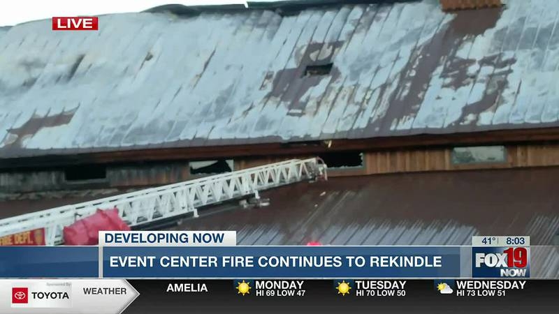 Fire breaks out at Butler County wedding venue