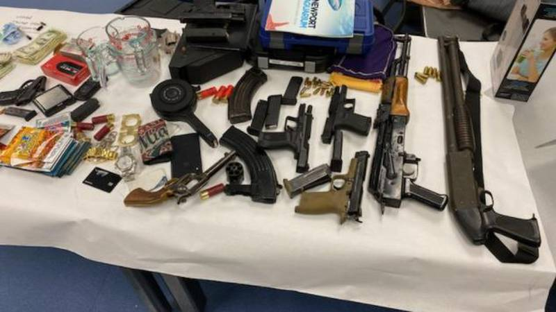 Cincinnati police seized 9 guns and a large amount of drugs on Thursday.
