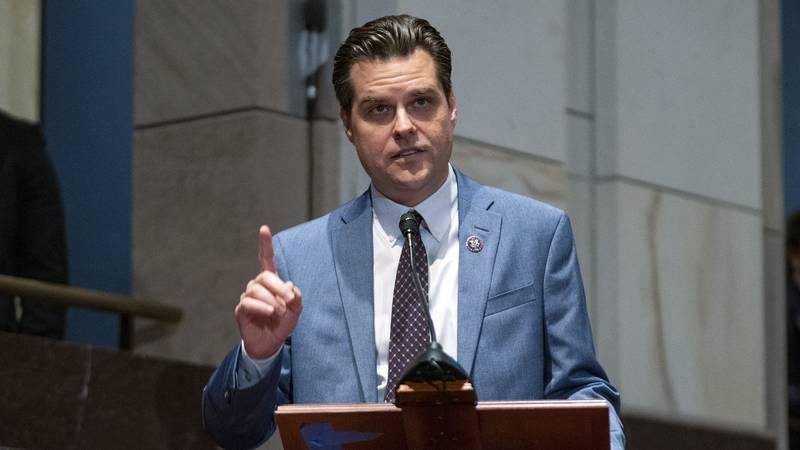 Rep. Matt Gaetz, R-Fla., speaks during a House Judiciary Committee oversight hearing of the...