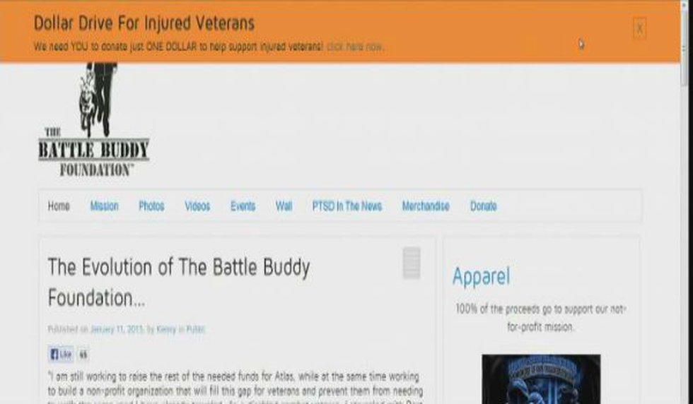 The Battle Buddy Foundation website