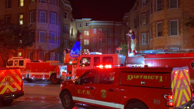 Reading Road is shut down in Avondale due to an apartment fire early Wednesday, Cincinnati...