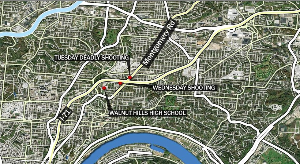 Cincinnati police are investigating a shooting in Evanston for the second straight day.