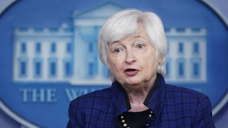 FILE - In this Friday, May 7, 2021 file photo, U.S. Treasury Secretary Janet Yellen speaks...