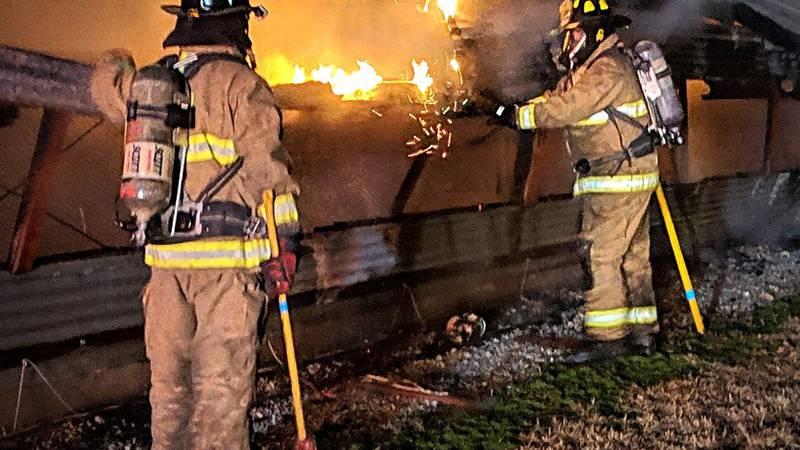 Turkey Barn Fire (Source: Washington Township Fire Department)