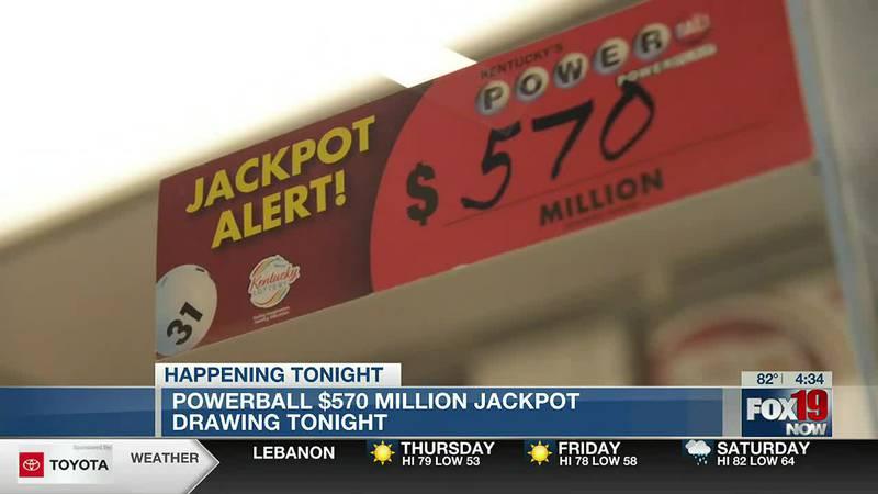 Powerball $570M jackpot drawing tonight