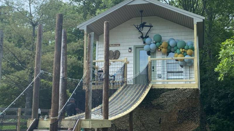 The family of Kolton Powers asked friends to build them a tree house for the 7-year-old who's...