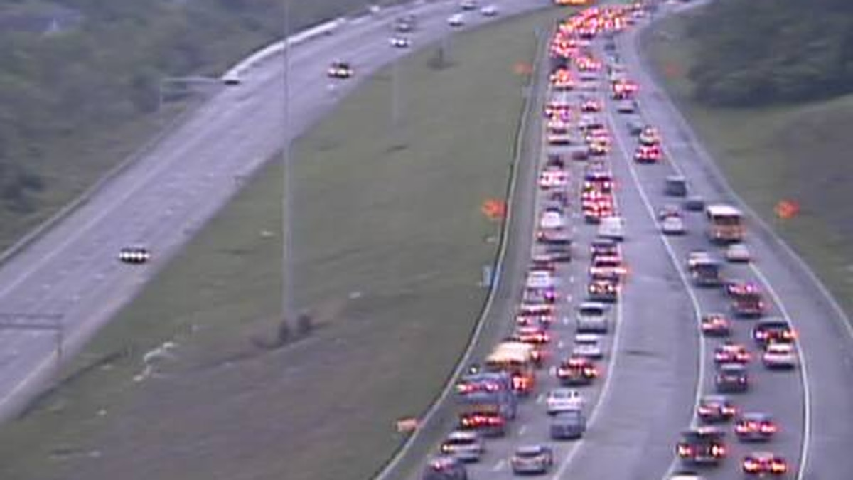 Eastbound Interstate 74 is closed before I-75 due to a crash Wednesday morning.