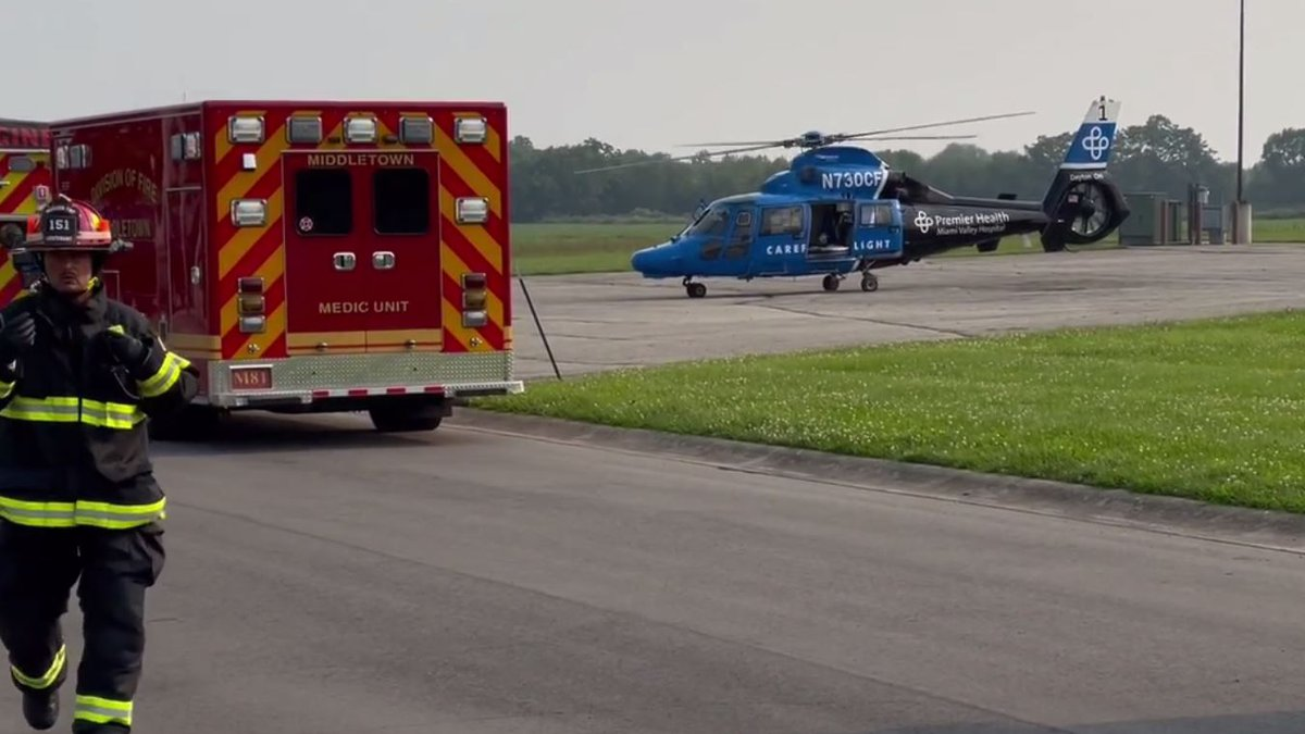 A child was transported by CareFlight from Land of Illusion in Middletown Tuesday night.