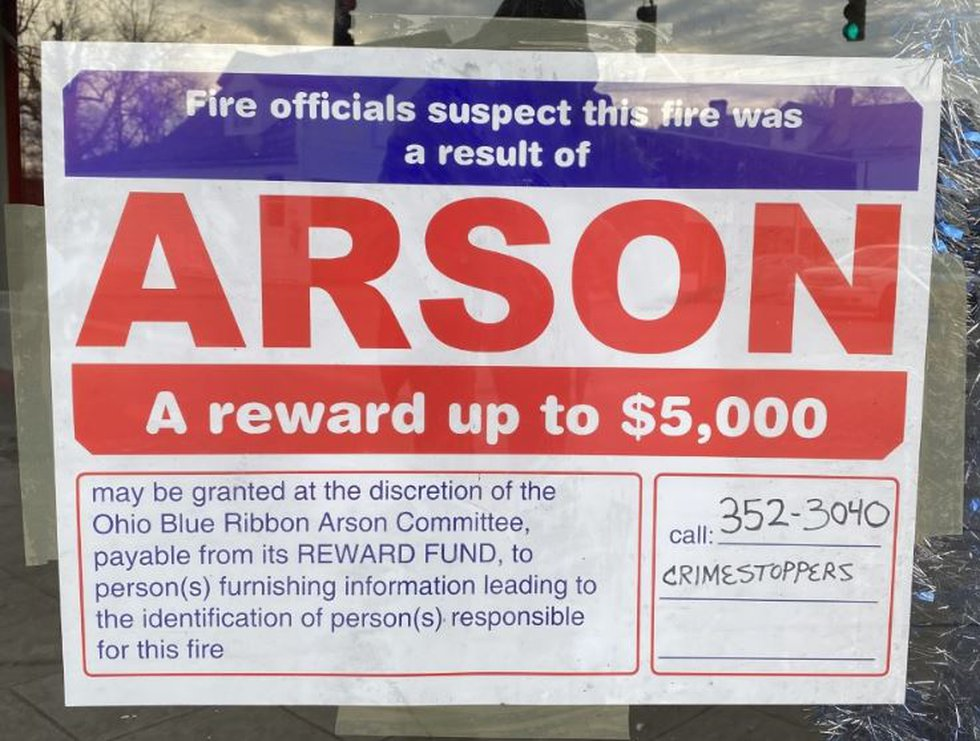 A reward is being offered to anyone with information on the fire.