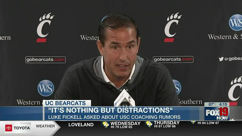 Bearcats' Fickell addresses USC speculation