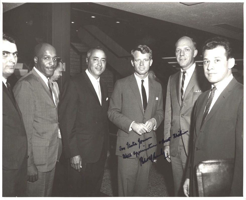 Judge Nathaniel Jones pictured with Bobby Kennedy