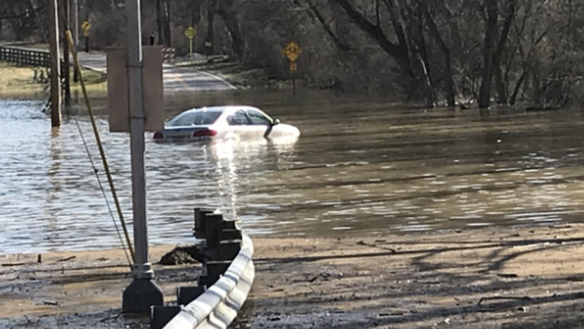 Emergency crews responded in Clermont County about 9 a.m. when a driver's vehicle became stuck...