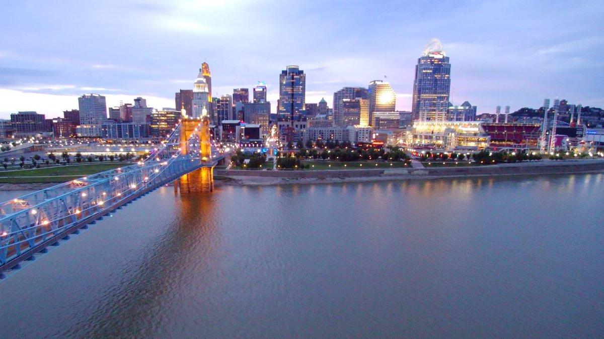 Cincinnati Skyline from SkyFOX19