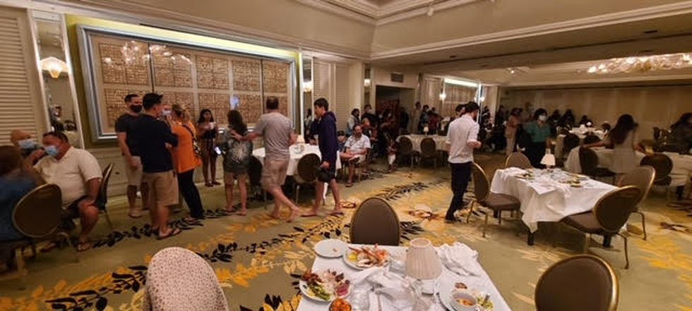 Rex Jakobovits snapped this photo of guests and staff locked down in the Kahala Resort &...