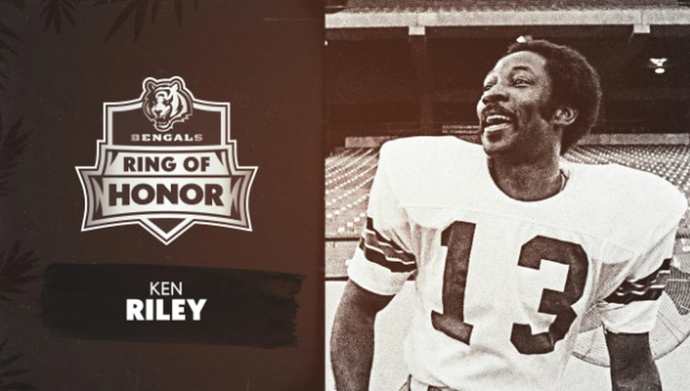 Ken Riley, one of the inductees into the Bengals Ring of Honor Inaugural Class. Holds an...